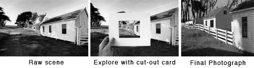 Photo Composition, Viewing Card