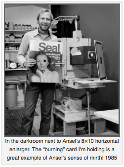 ansel adams' darkroom, alan ross